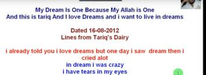 my-dream-by-tariq-aziz-300x110 My Dream - Lines from My Dairy Written By tariq